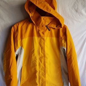 LL Bean Womens Yellow winter Ski Jacket size Reg M